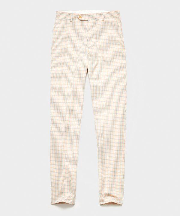 Italian Tattersall Sutton Dress Trouser in Ivory