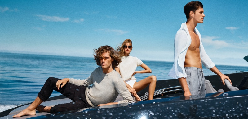 The faces of the season, Umberto Villahermosa, Kim Riekenberg, and Dan Zsolt come together for JOOP!'s spring-summer 2021 campaign.