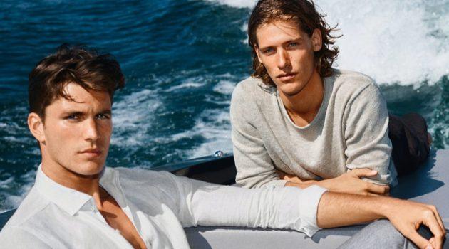 Models Dan Zsolt and Umberto Villahermosa front JOOP!'s spring-summer 2021 campaign.
