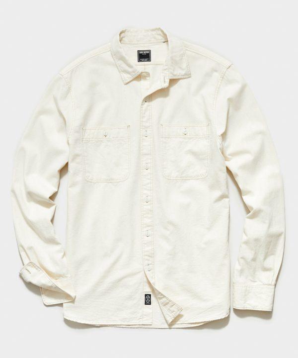 Japanese Off White Chambray Work Shirt