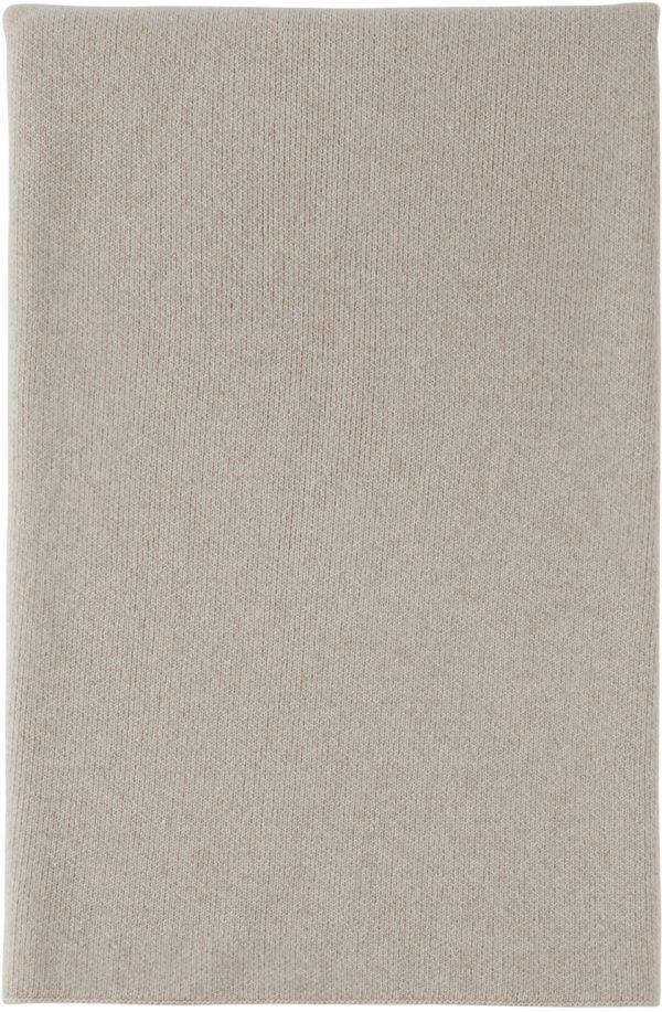 John Elliott Beige Cashmere Blend Blanket