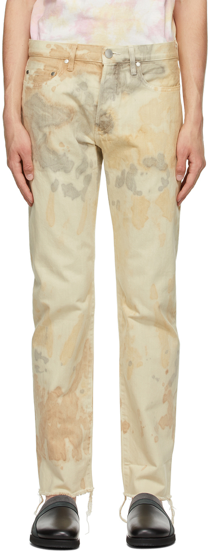 John Elliott Beige Dyed 'The Daze' Jeans