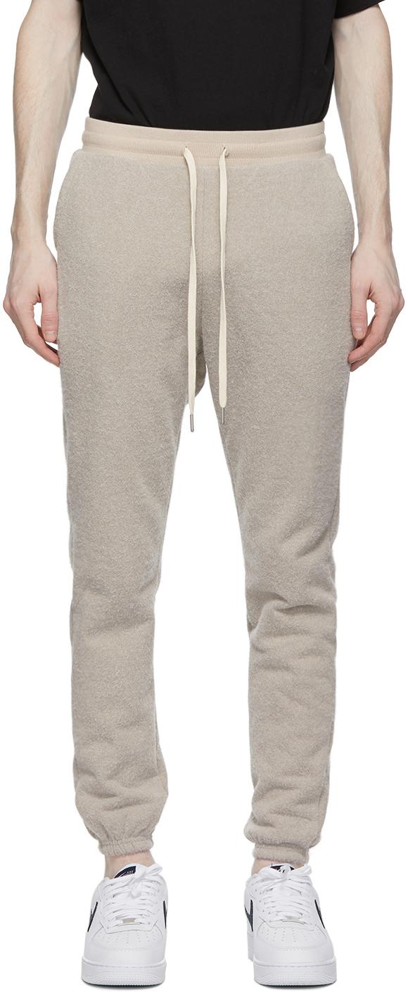 John Elliott Beige Fur Terry LA Lounge Pants