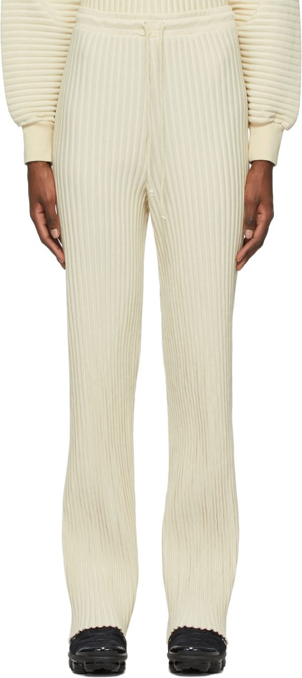 John Elliott Beige Ribbed Terry Lounge Pants