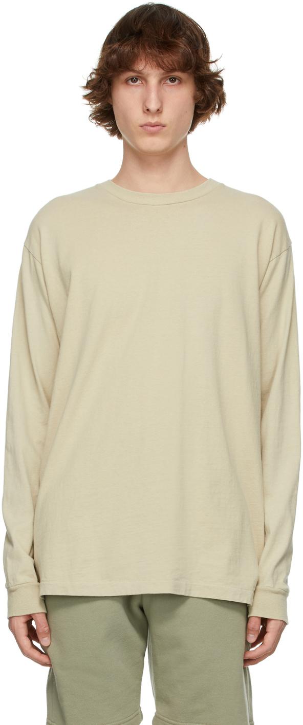 John Elliott Beige University Long Sleeve T-Shirt