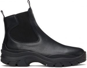 John Elliott Black Caldera Chelsea Boots