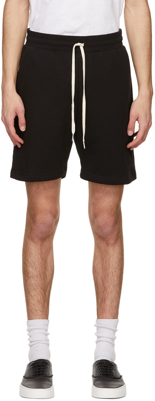 John Elliott Black Crimson Shorts