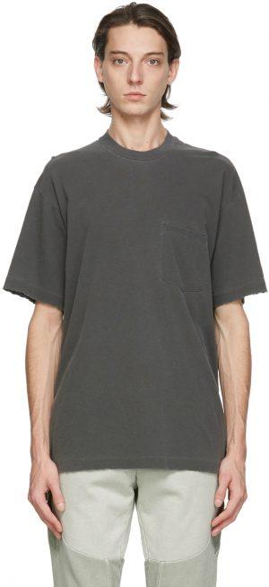 John Elliott Black Faded Pocket T-Shirt