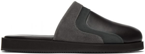 John Elliott Black Grace Slide Loafers
