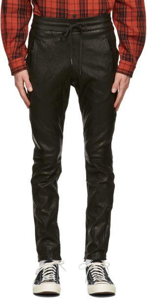 John Elliott Black Leather Escobar Trousers