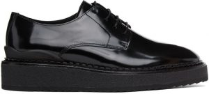 John Elliott Black Patent Creeper Derbys