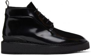John Elliott Black Patent Creeper II Boots