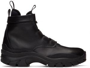 John Elliott Black Speed Lace-Up Boots