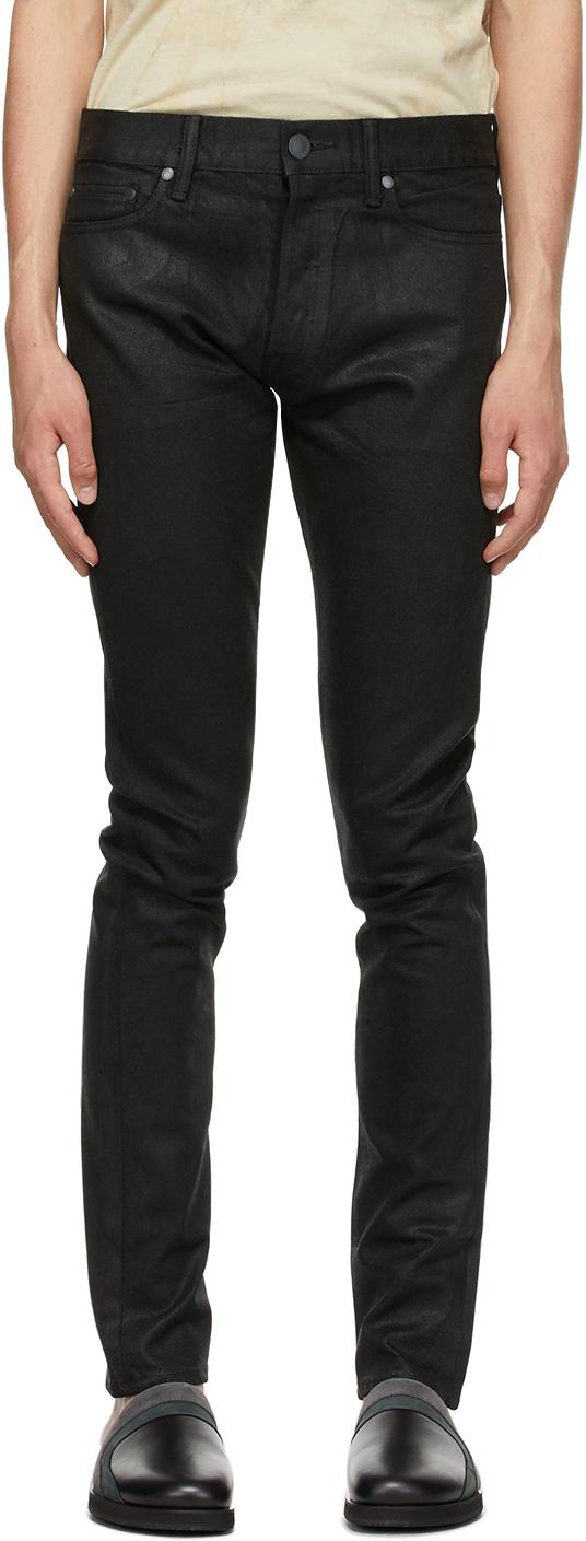 John Elliott Black Waxed 'The Cast 2' Jeans