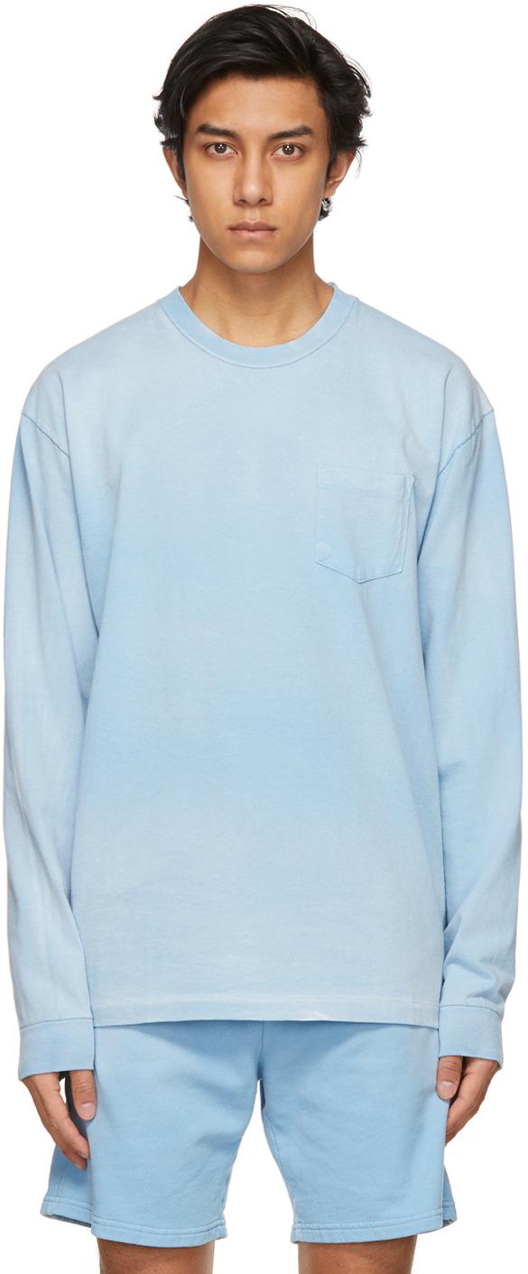 John Elliott Blue Exposure University Long Sleeve T-Shirt