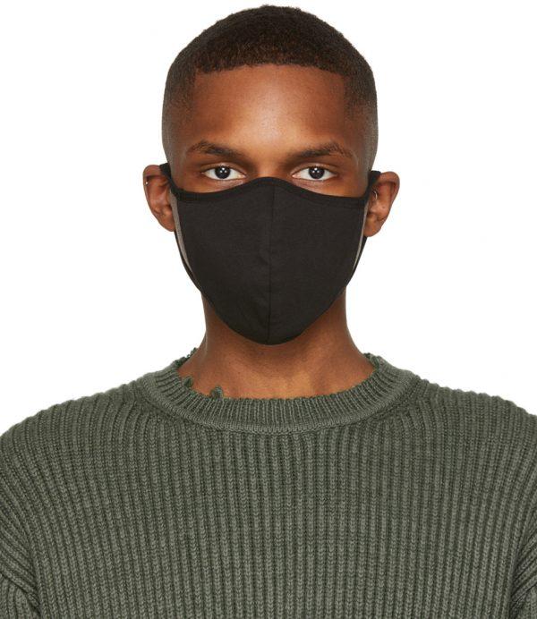 John Elliott Five-Pack Black Jersey Face Mask