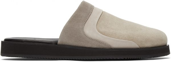 John Elliott Grey Grace Slide Loafers