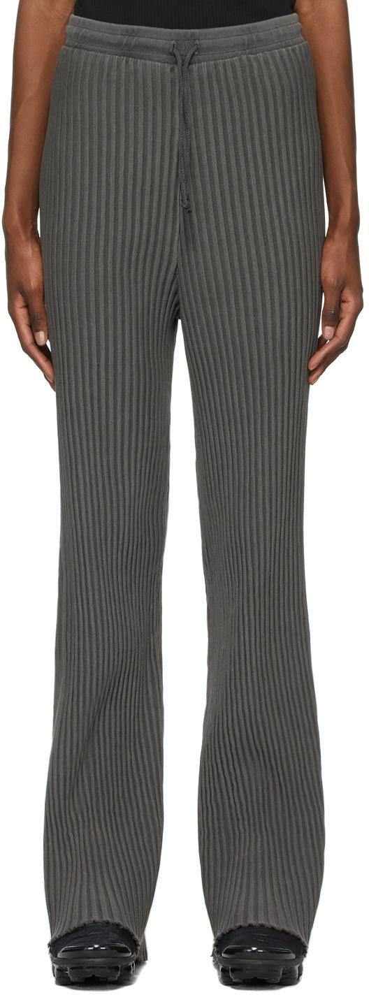 John Elliott Grey Ribbed Terry Lounge Pants