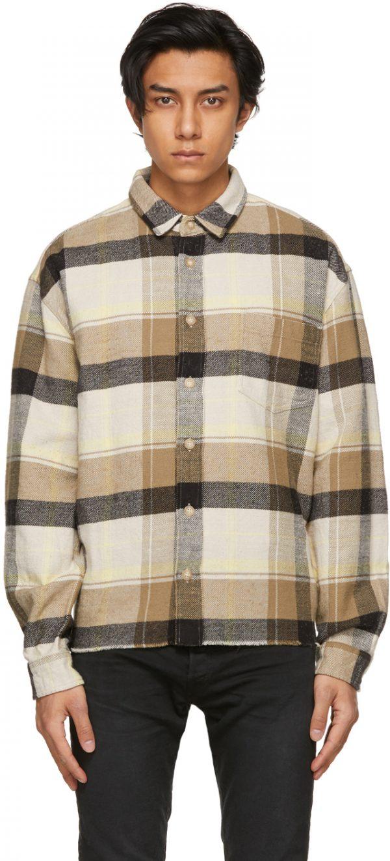 John Elliott Khaki Hemi Oversized Shirt