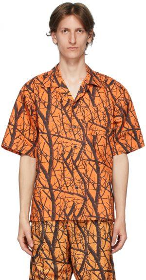 John Elliott Orange Camp Shirt