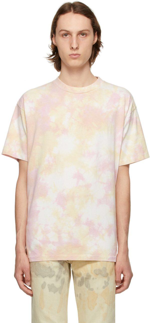 John Elliott Pink Tie-Dye University T-Shirt