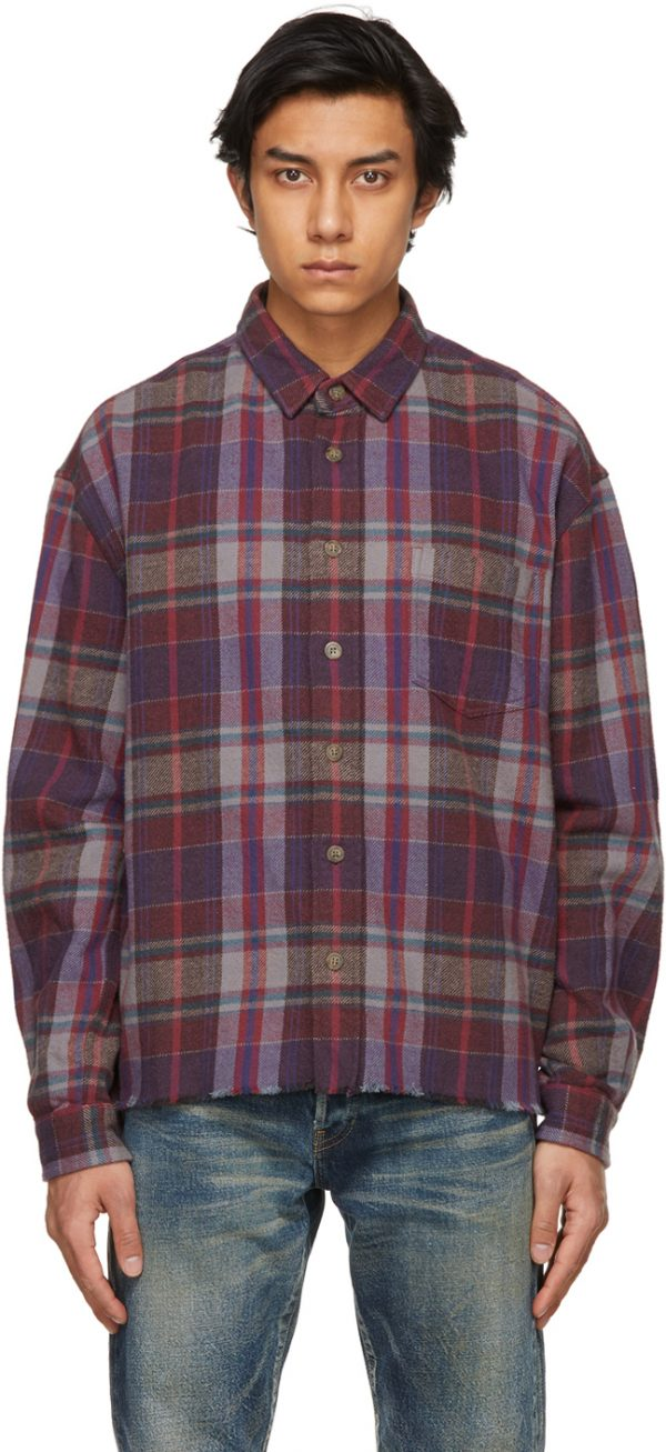 John Elliott Purple Hemi Oversized Shirt