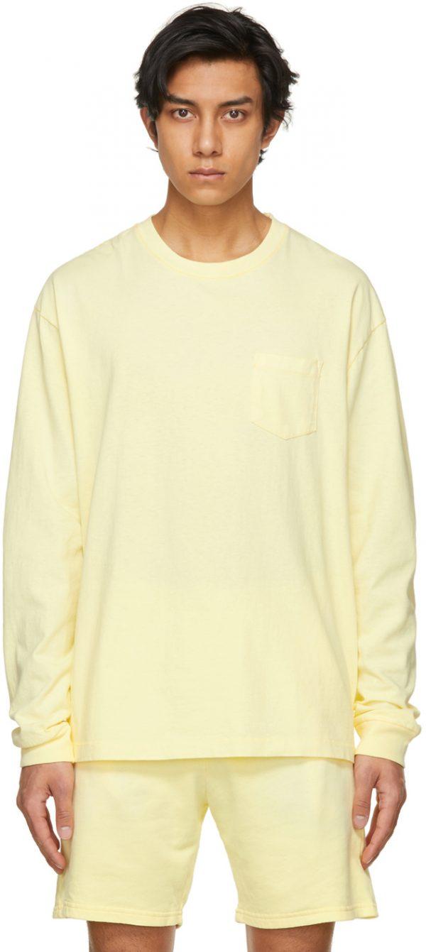 John Elliott Yellow Exposure University Long Sleeve T-Shirt