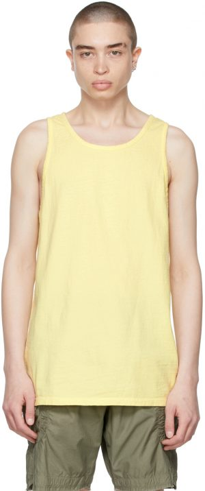 John Elliott Yellow Rugby Tank Top