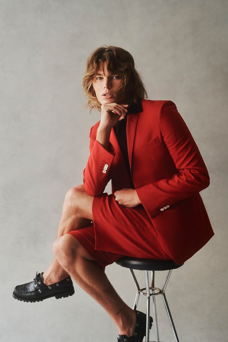Jordan Barrett Hits the Studio in Fendi for GQ Style Australia