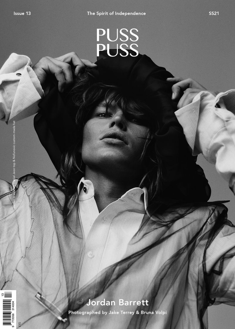 Jordan Barrett Embraces Bold Style for Puss Puss Cover Shoot