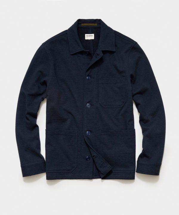 Knit Chore Coat in Original Navy