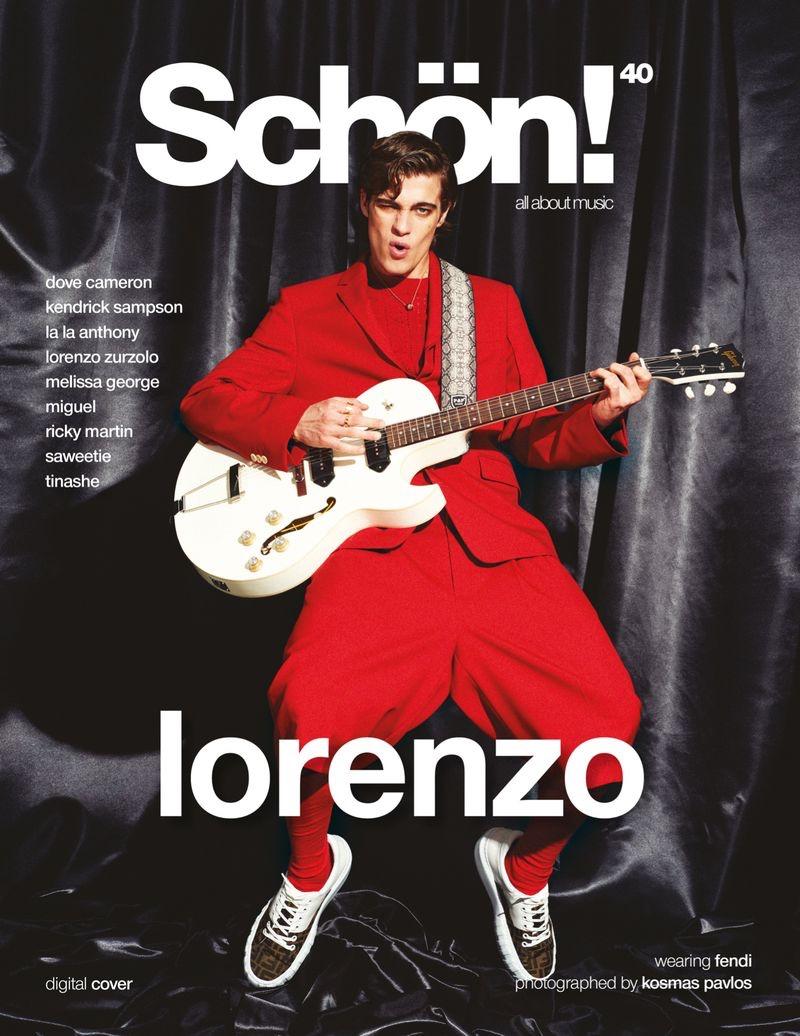 Lorenzo Zurzolo Shines in Schön! Cover Story