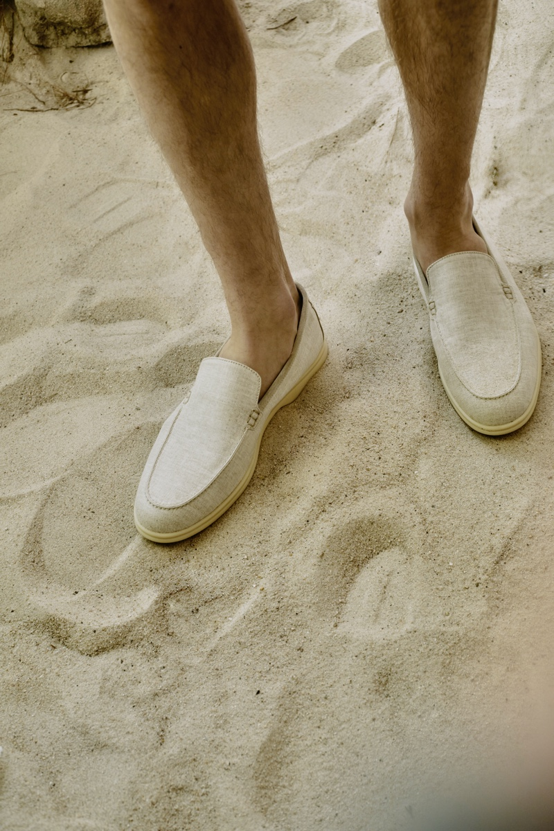 A chic summer must-have is Loro Piana's Summer Walk moccasins for Mytheresa.