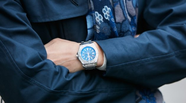 Man Wearing Bretling Watch Cropped