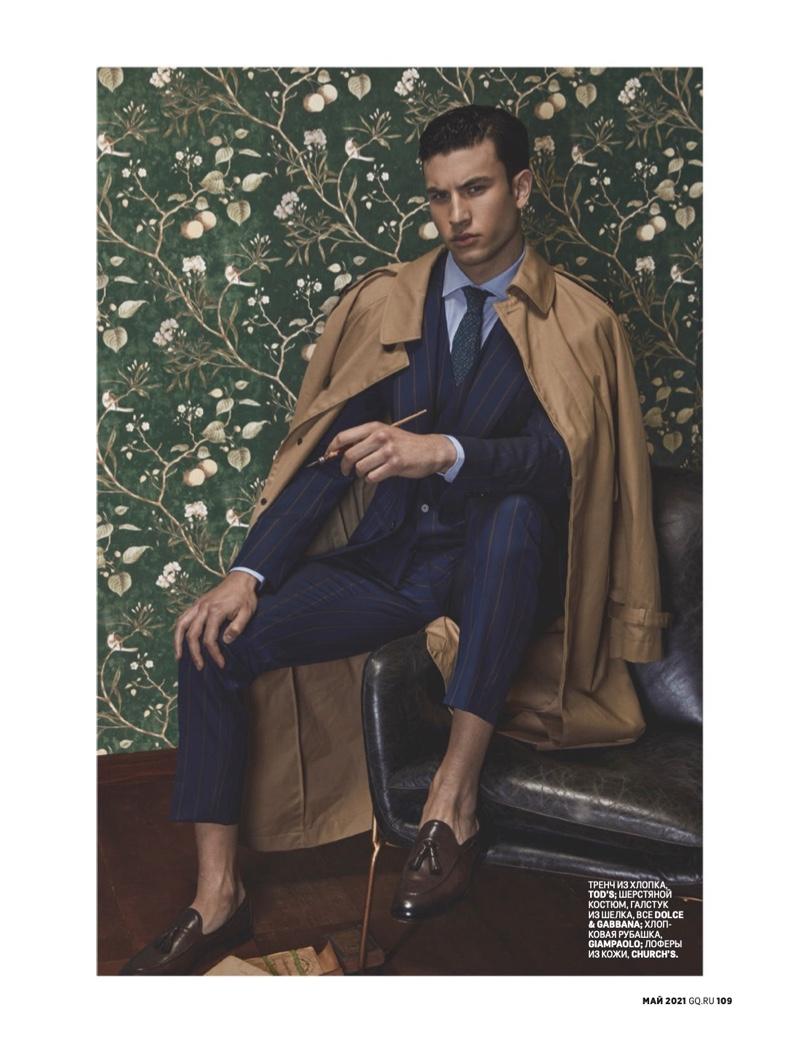 Mattia Narducci Models Dandy Style for GQ Russia