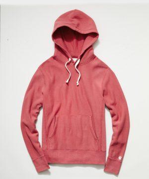 Midweight Popover Hoodie Sweatshirt in Vintage Claret