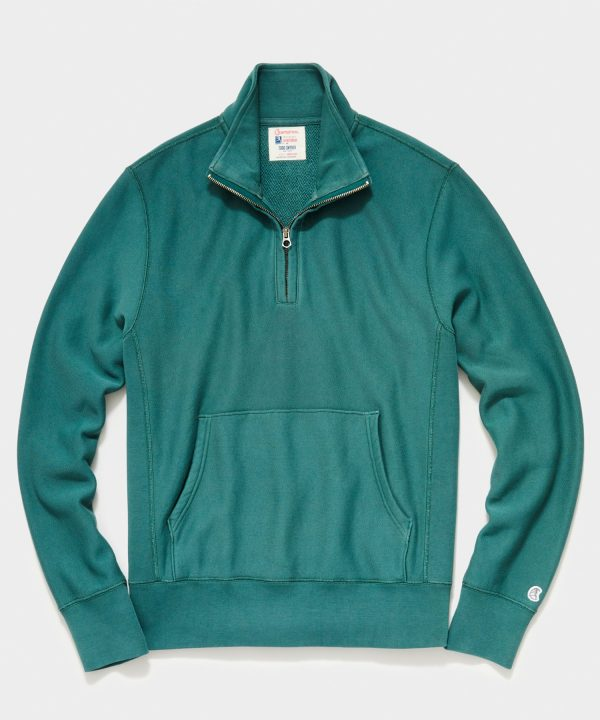 Midweight Quarter Zip Sweatshirt in Hunt Club