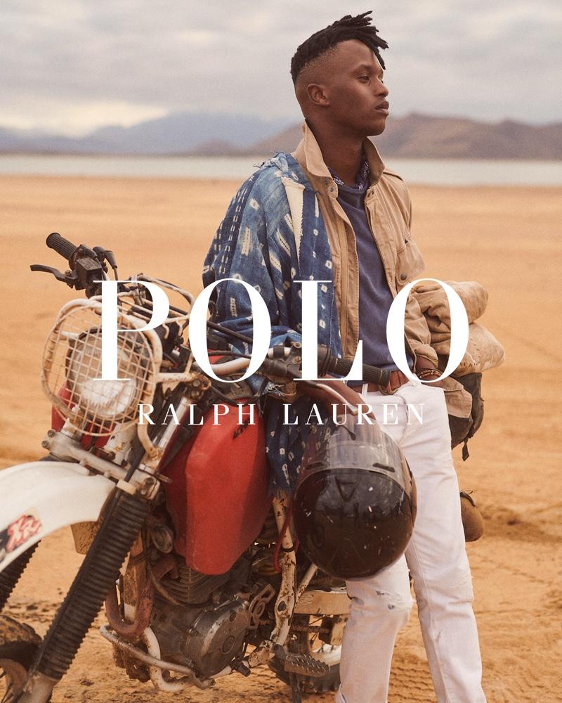 Lwakhe Matiwane embraces safari style for POLO Ralph Lauren's Wild Coast collection campaign.