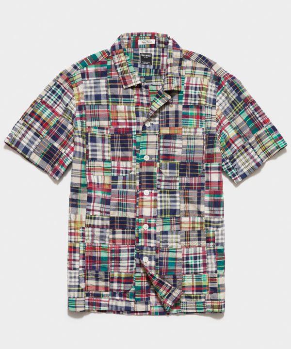 Patchwork Madras Guayabera Shirt