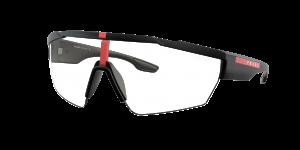 Prada Linea Rossa Man PS 03XS - Frame color: Black Rubber, Lens color: Clear, Size 44-00/125