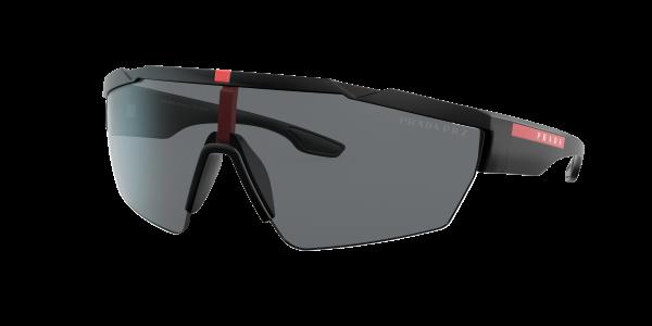 Prada Linea Rossa Man PS 03XS - Frame color: Black Rubber, Lens color: Grey, Size 14-4/125