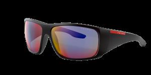 Prada Linea Rossa Man PS 04VS - Frame color: Black, Lens color: Grey-Black, Size 66-14/130