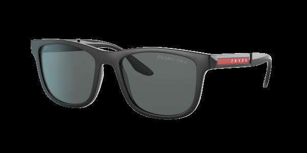 Prada Linea Rossa Man PS 04XS - Frame color: Black Rubber, Lens color: Grey, Size 54-18/145
