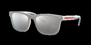 Prada Linea Rossa Man PS 04XS - Frame color: Grey Rubber, Lens color: Silver, Size 54-18/145
