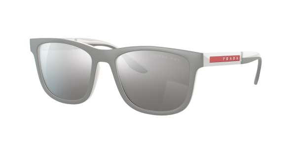Prada Linea Rossa Man PS 04XS - Frame color: Grey Rubber, Lens color: Silver, Size 54-18/145