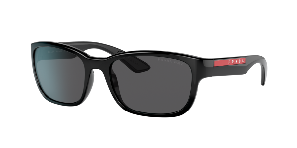 Prada Linea Rossa Man PS 05VS - Frame color: Black, Lens color: Grey, Size 57-19/145