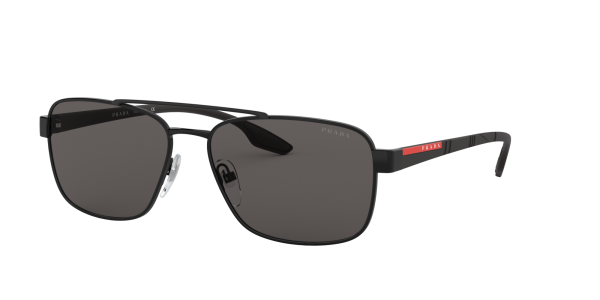 Prada Linea Rossa Man PS 51US - Frame color: Black, Lens color: Dark Grey, Size 62-16/145