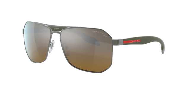 Prada Linea Rossa Man PS 51VS - Frame color: Gunmetal, Lens color: Brown, Size 62-14/140