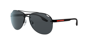 Prada Linea Rossa Man PS 52VS - Frame color: Black, Lens color: Grey-Black, Size 61-14/145