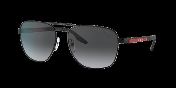 Prada Linea Rossa Man PS 53XS - Frame color: Matte Black, Lens color: Grey, Size 60-17/140